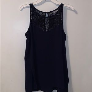 Navy blue lacy tang top